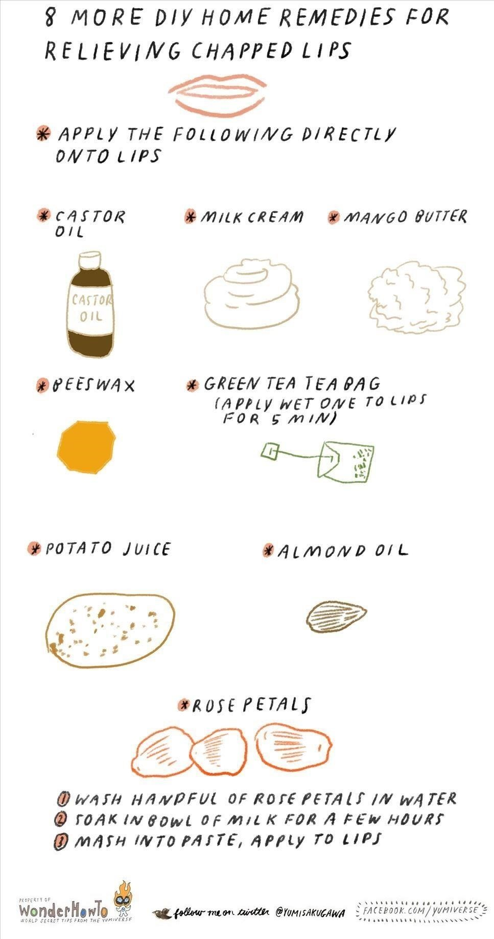 8 More DIY Home Remedies for Relieving Chapped Lips