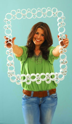 PVC Pipe Picture Frame - Super Easy