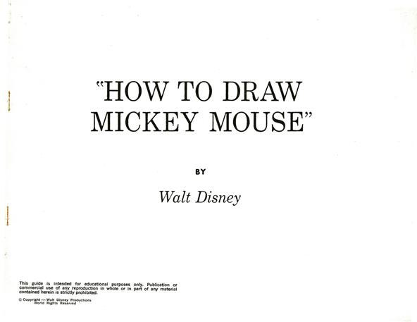 How To Draw Disney S Most Famous Cartoon Character