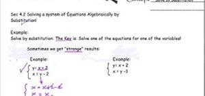 Solve a system of equations algebraically