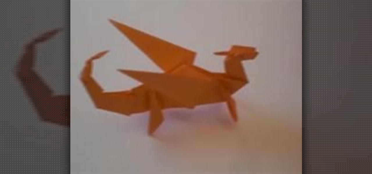 How To Fold An Origami Dragon WonderHowTo