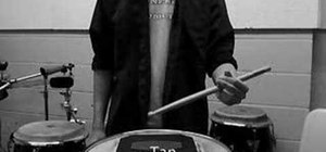 Use a Moeller stroke technique on the drums