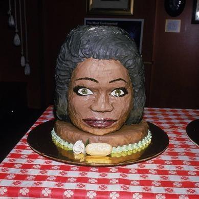 Extremely Creepy Oprah Winfrey Cake