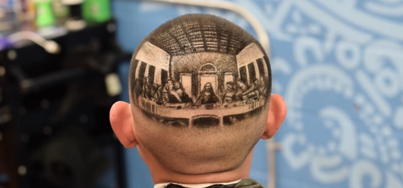 Barber Buzzes 'Last Supper' onto Man's Head