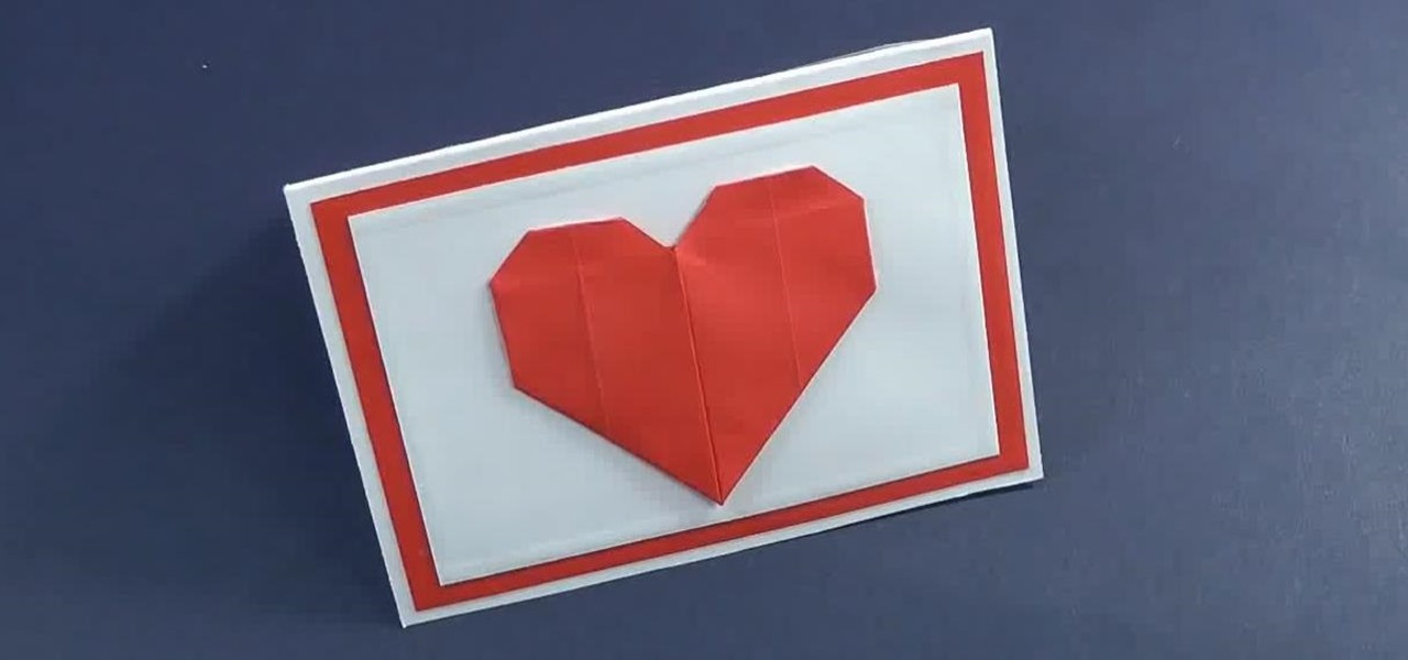 Make a Mini Valentine's Day Card with Origami Heart