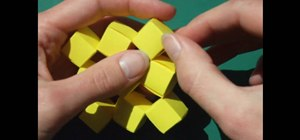 Craft origami moving cubes without glue