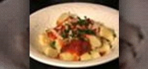 Make tiny Italian potato dumplings or gnocchi