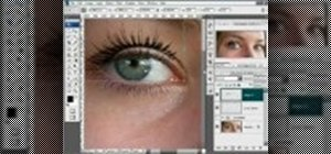 Create false eyelashes in Photoshop