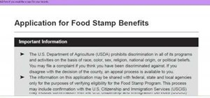 Apply for California food stamps