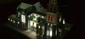 DIY Papercraft Architecture with Lighting