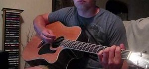 "Play ""Thunder"" by Boys Like Girls on acoustic guitar"