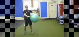 Tone your core with a stability ball ab plank