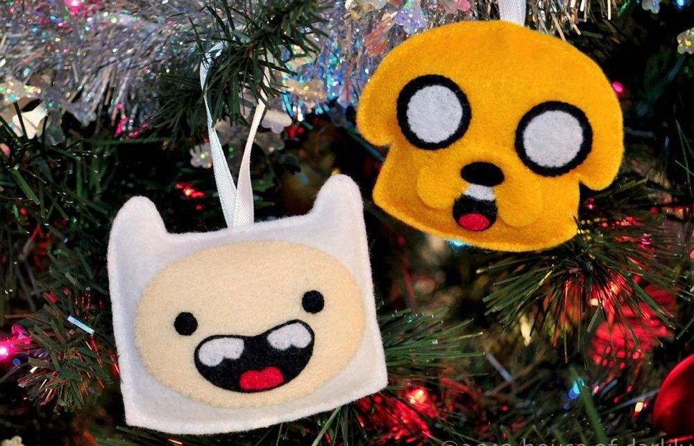 DIY Adventure Time Ornaments - Geek Up Your Holidays With These 10 Nerdy DIY Christmas Tree