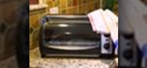 Clean a toaster oven