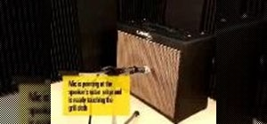 Mic a guitar amplifier & position a mic