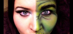 How to Apply two face Dr Jekyll inspired Halloween makeup - Applying Halloween Makeup