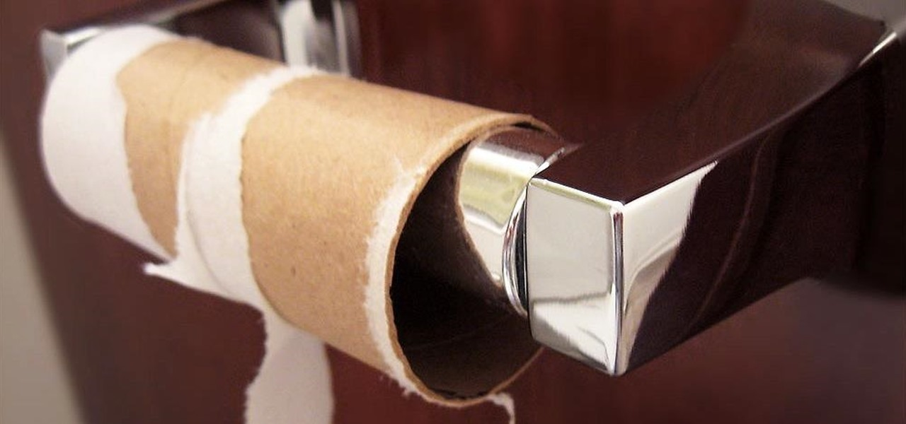Use Those 'Useless' Leftover Toilet Paper Tubes to Clean in Tight Spots