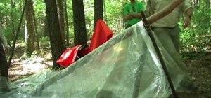 Create an A-frame shelter