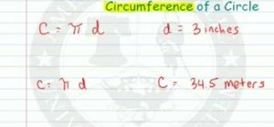 Solve the circumference with pi