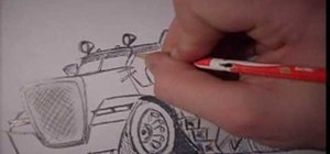 Draw a caricature of a truck