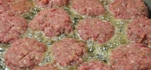Make easy meatballs with egg and bread crumbs