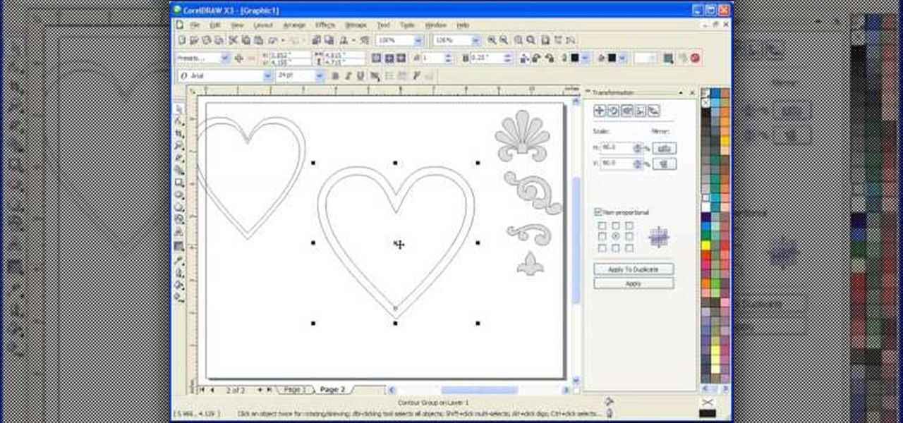 How to Use the interactive contour tool in Corel Draw X3 ...