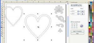 Use the interactive contour tool in Corel Draw X3