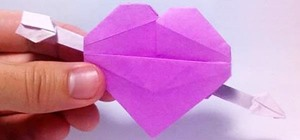 Make a Heart-Shaped Origami Valentine Complete with Cupid's Protruding Arrow
