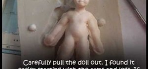 Make a two-part push mold doll out of polymer clay