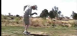 Perform a proper release and follow through in golf