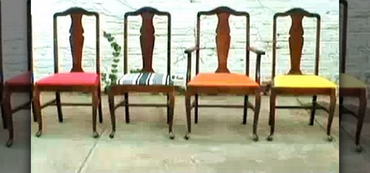 How to re upholster vintage dining room chairs construction repair wonderhowto - Retro dining room chairs ...