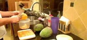 Know the basics of cutting a mango