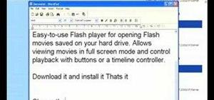Open a SWF file