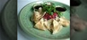 Make jiaozi dumplings out of crab meat