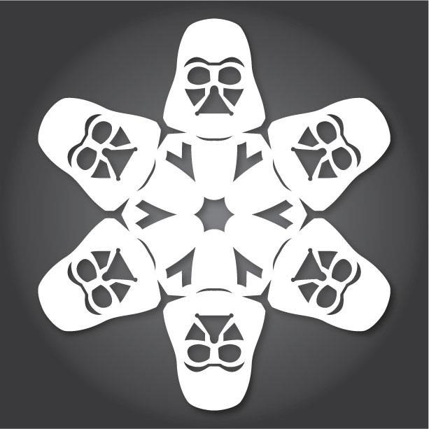 ... Nerdtastic Holiday with 13 More Star Wars Paper Snowflake Templates