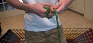 Tie a one-handed bowline knot quickly