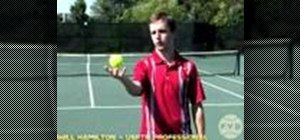 Practice a toss & backswing on a tennis serve