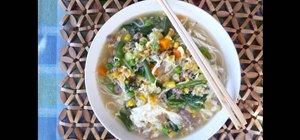 Make Chinese sweet corn egg drop soup