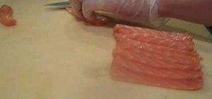 Make salmon sushi