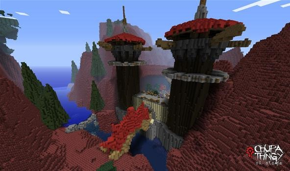 Kalimdor from World of Warcraft Recreated in Minecraft (to Scale)