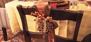 Create a Pine Cone & Berry Thanksgiving Decoration
