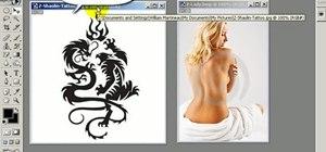 Add a tattoo in Photoshop