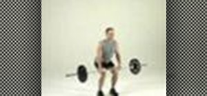 Tone legs with a hang-clean to squat to push-press