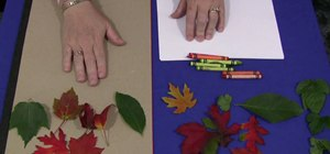 Do leaf rubbings for a children's acitivity