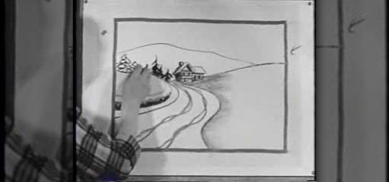How to Draw a snowy road scene with a nostalgic 50\'s film « Drawing ...
