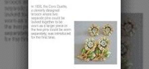 Indentify vintage Coro costume jewelry