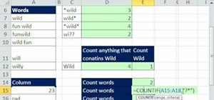 Use the * and ? wildcards in Microsoft Excel