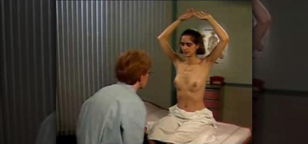 Female doctor doing breast exam video