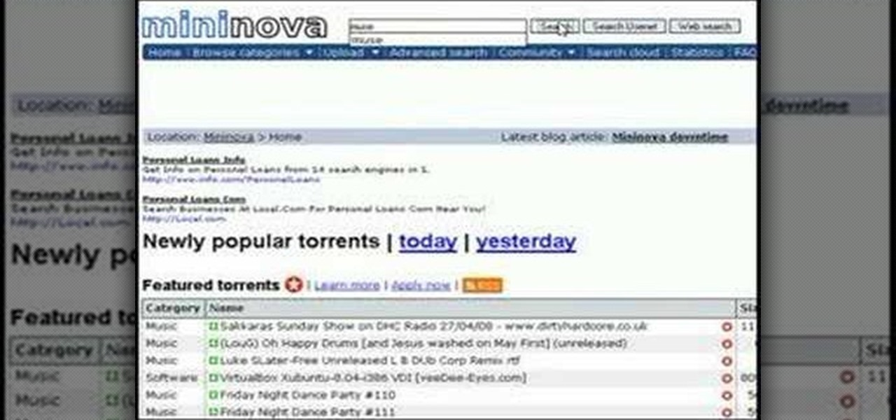 How to Stream music torrents online « Torrent :: WonderHowTo