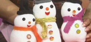 Make an advent calender and button ornaments for Christmas